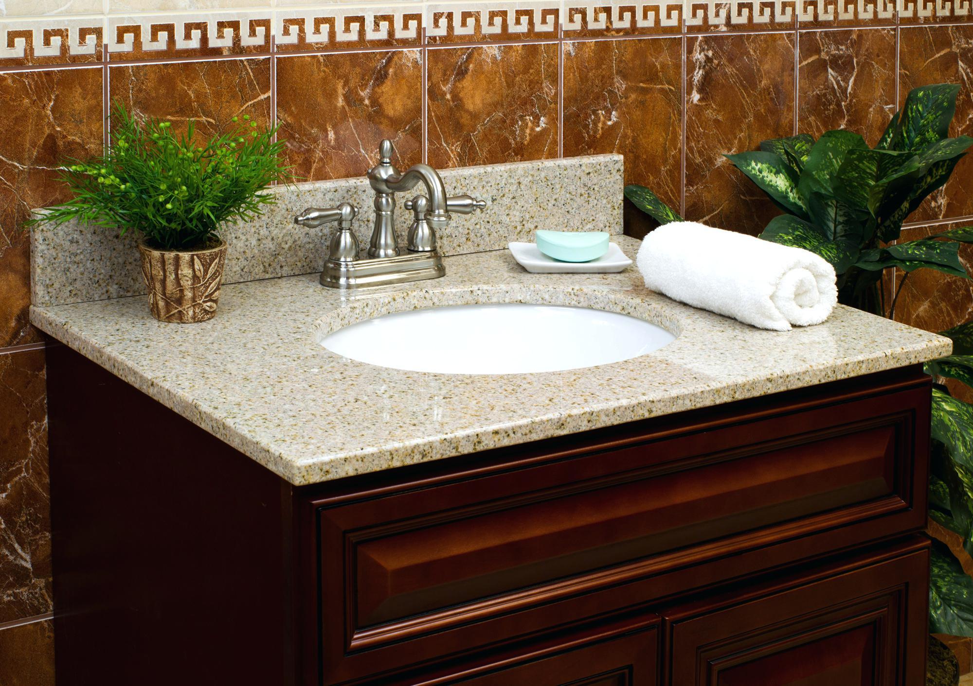 bathroom vanities with granite tops