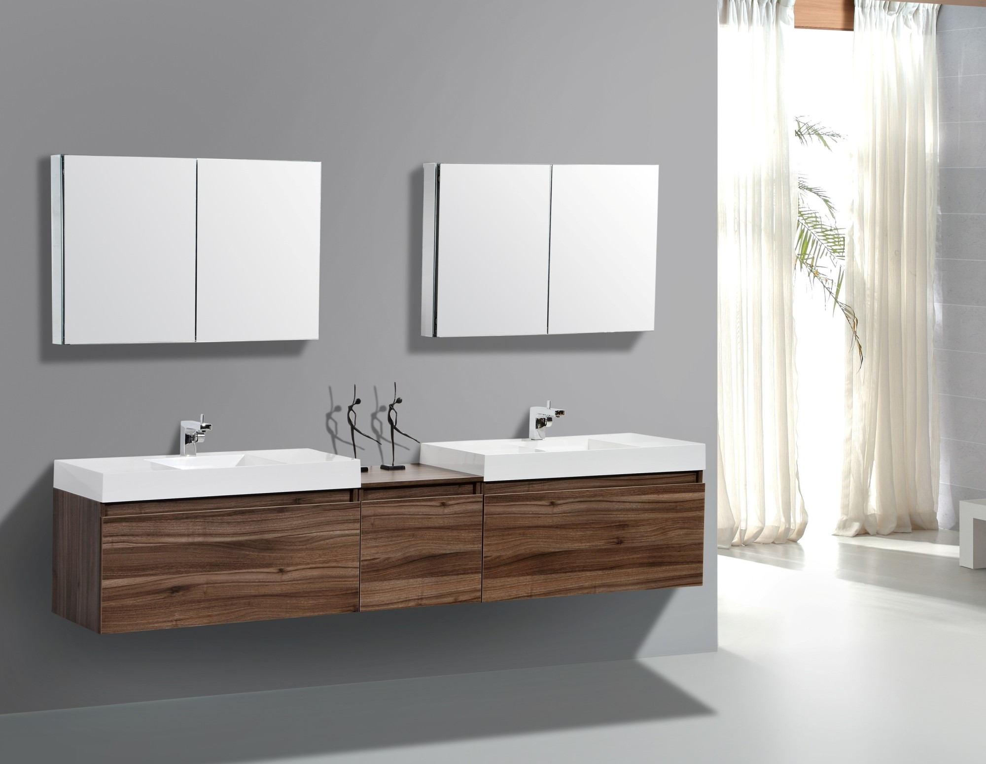 Luxury Wall Mount Vanity Double Vanity