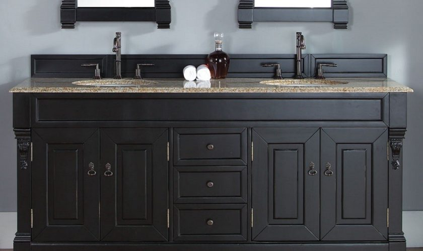 black_bathroom_vanity