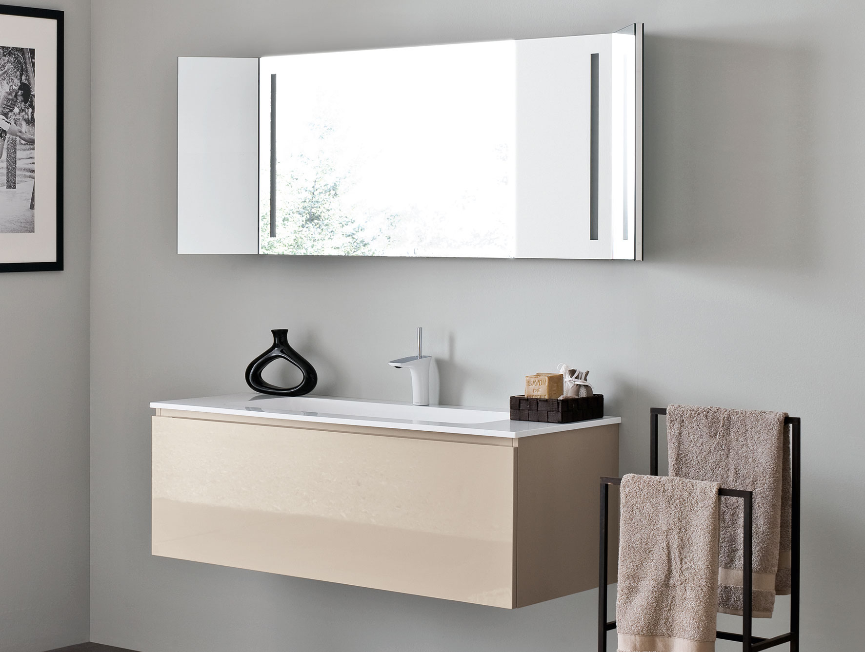 bathroom vanity floating