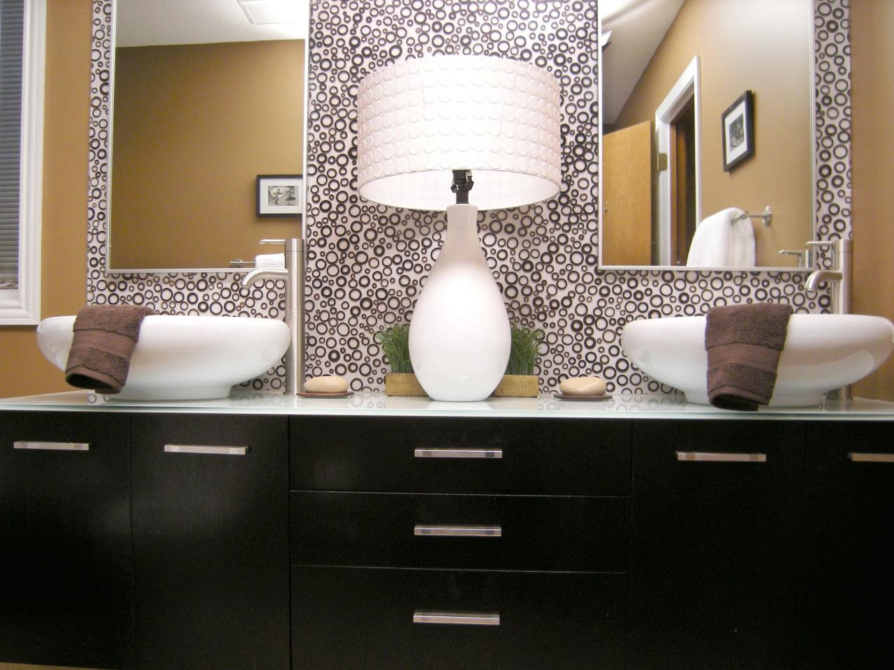 mirrored vanity bathroom