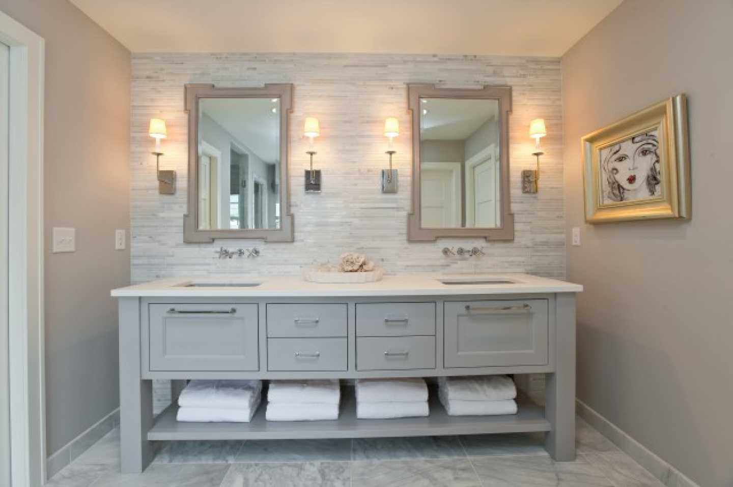 Wall To Wall Bathroom Vanity. White Bathroom Vanity Ideas