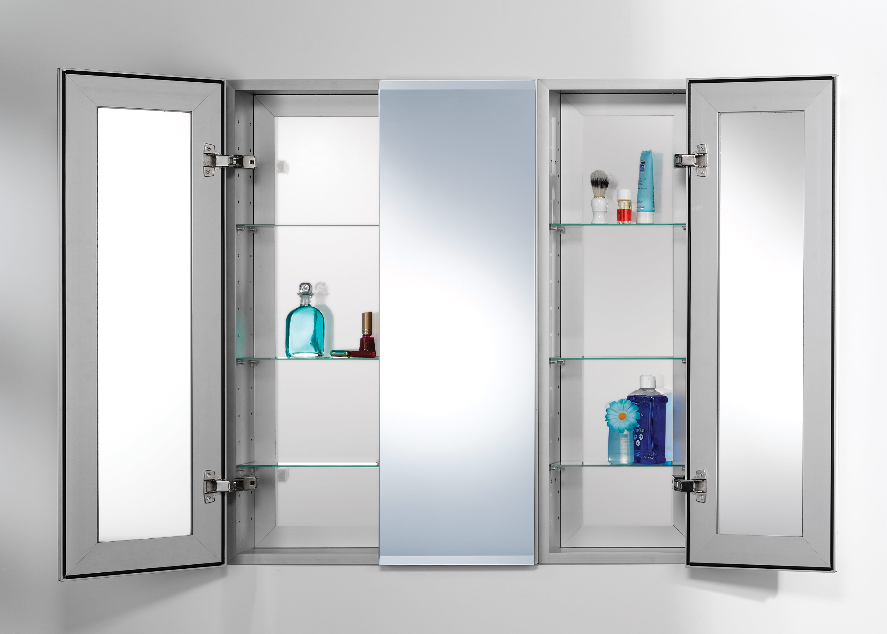 Bathroom medicine cabinets with lights recessed mirrored - Bathroom mirrors and medicine cabinets ...
